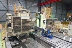 Mitsubishi Hor. boring mill for arm machining