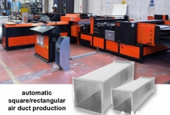 CR Electronic Square air ducts production line